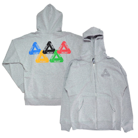 Palace Olympic  Hoodie Grey