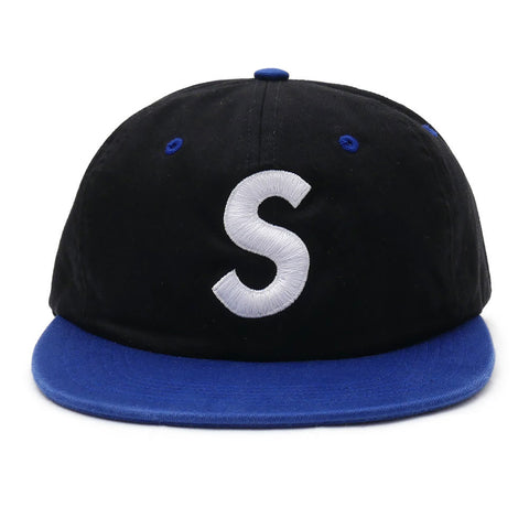 Supreme 2 -Tone Washed S Logo 6 - Panel Black