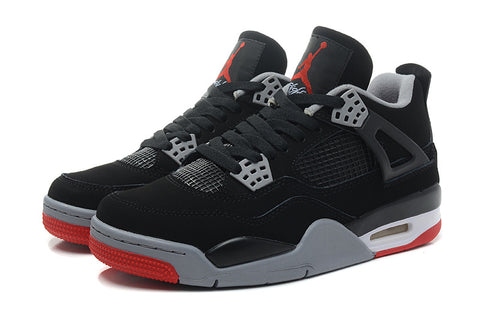 e2a76912e0aaff Air Jordan 4 Retro Black   Cement Grey - Fire Red Size 8.5 ...