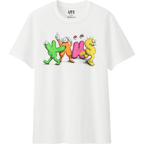 KAWS Spell Out Neon Tee White