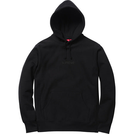 Supreme Tonal Embroidered Hooded Sweater Black