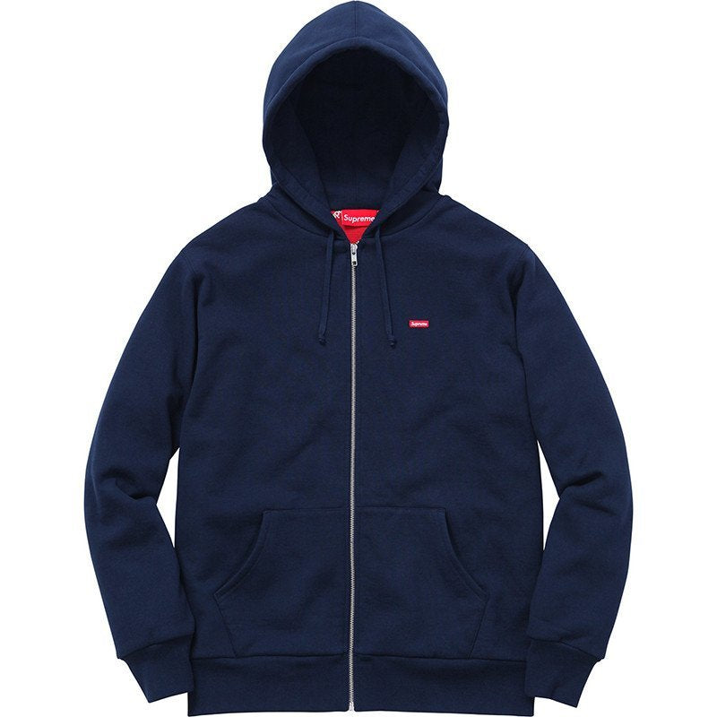 Supreme Small Box Thermal Zip Up Sweatshirt Navy – CURATEDSUPPLY.COM 25feb43786f
