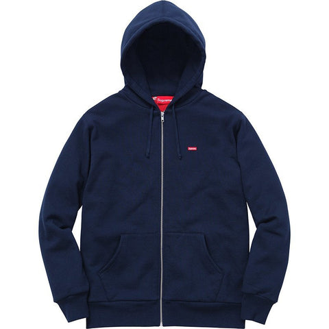 Supreme Small Box Thermal Zip Up Sweatshirt Navy