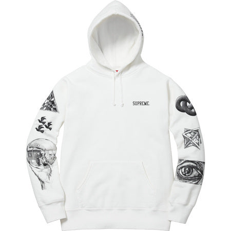 Supreme M.C. Escher Hooded Sweatshirt White