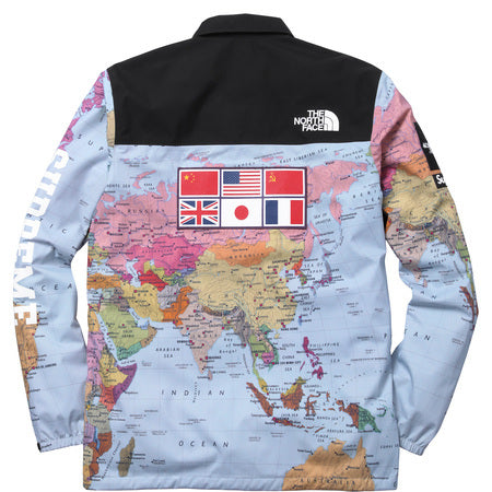 The Northface Supreme Expedition Coaches Jacket MAP Print