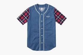 Supreme Denim Flannel Baseball Shirt Blue