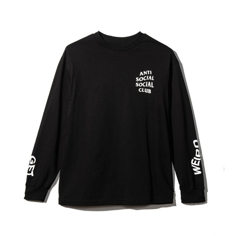 Anti Social Social Club GET WEIRD LONG SLEEVE SHIRT BLACK