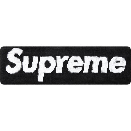 Supreme New Era Big Logo Headband Black