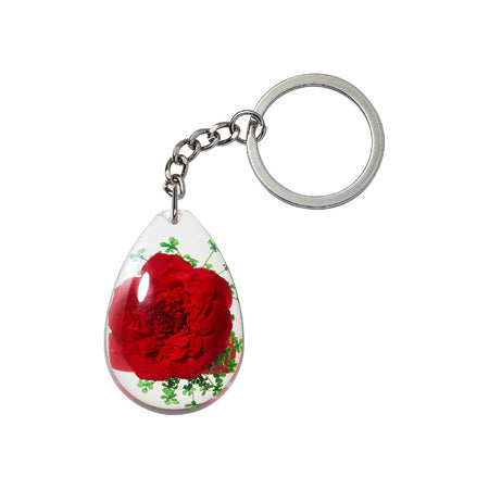 Supreme Tear Drop Rose Keychain