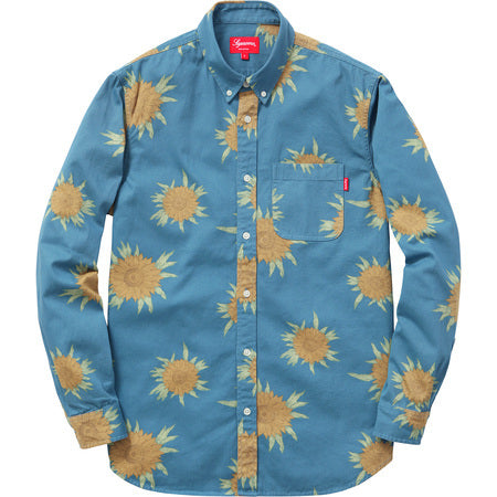 Supreme Sunflower Shirt Blue Medium