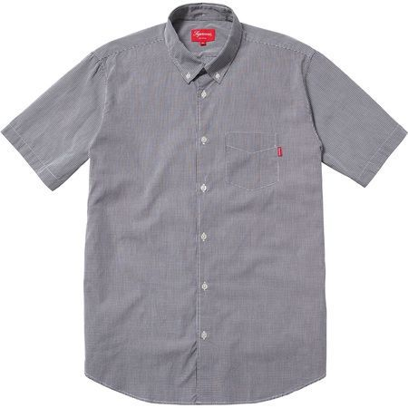 Supreme Mini Gingham Shirt Black