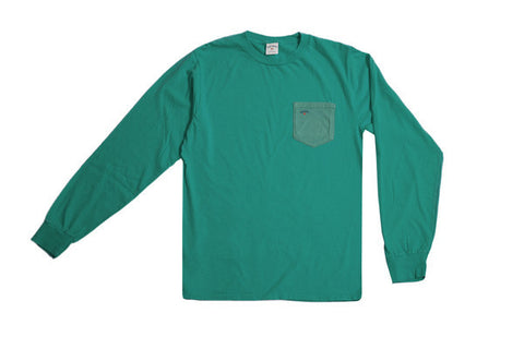 Noah NYC Pocket Long Sleeve Tee Peacock