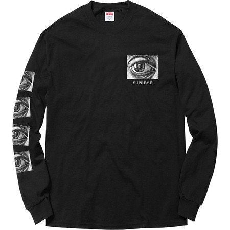 Supreme M.C. Escher Eye Long Sleeve Tee Black