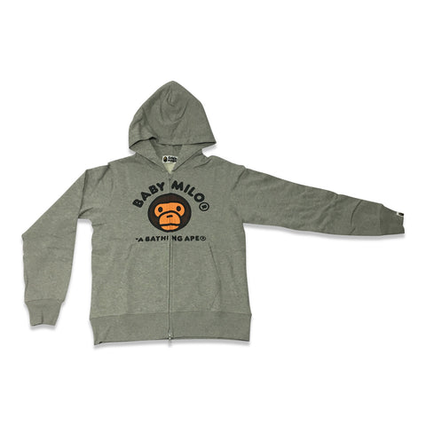 Bathing Ape Baby Milo Hooded Zip-Up Grey