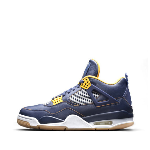 Air Jordan 4 Retro Midnight Navy/ Metallic Gold Size 9