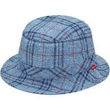 Supreme Loro Piana Terry Crusher Hat Navy Plaid S/M