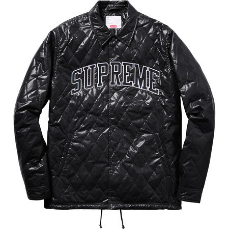 Supreme Quilted Coaches Jacket Black Curatedsupply