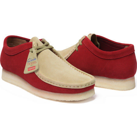 Supreme / Clarks 2 Tone Wallabee Red Size 9