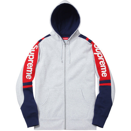 Supreme Track Zip-Up Sweat Ash Grey
