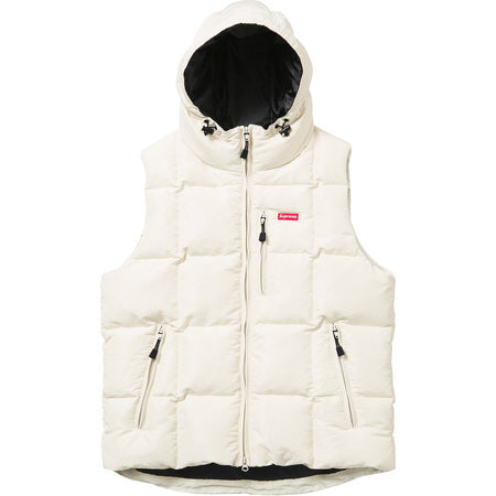 Supreme Iridescent Puffy Vest White