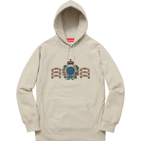Supreme Crest Hooded Sweatahirt Tan