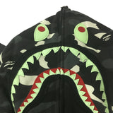 A Bathing Ape Bape City Camo Gray Shark Varsity Hoodie Full Zip