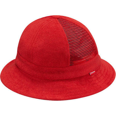 Supreme Terry Side Mesh Bell Hat Red S/M