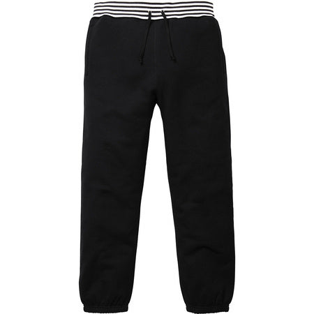 Supreme Classic Logo Striped Rib Sweatpant