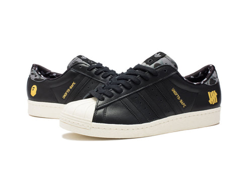 UNDEFEATED X BAPE SUPERSTAR 80V BLACK ORIGINALS