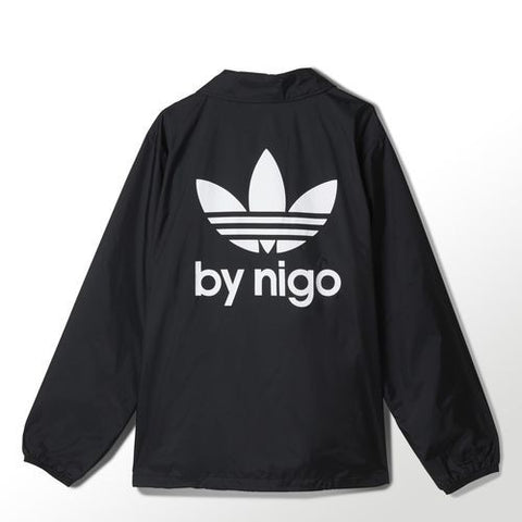 Adidas 25 Coach Windbreaker Jacket Black By Nigo