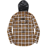 Supreme / UNDERCOVER Satin Hooded Flannel Shirt Gold