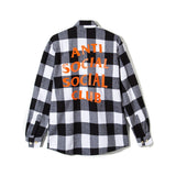 Anti Social Social Club Park Flannel Orange & Black