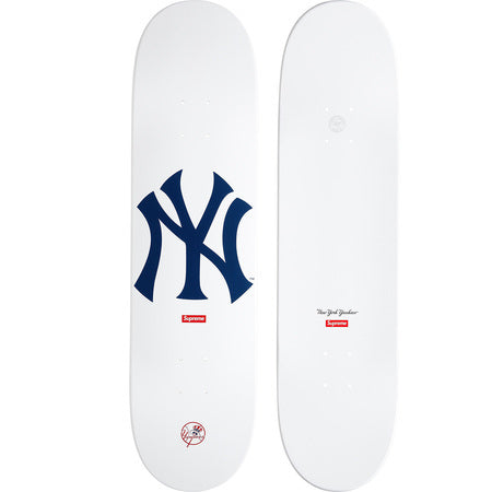 Supreme / New York Yankees 47 Brand White Skateboard