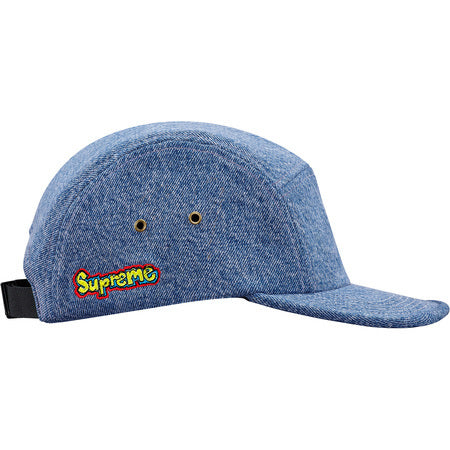 02a942f8a66 ... usa supreme denim skate logo camp cap blue e842e 80d6e france supreme  hat ...