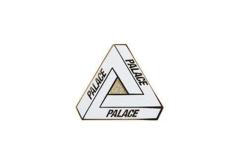 Palace Tri-Ferg Pin Badge White