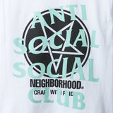 Anti Social Social Club x Neighborhood White Filth Fury Tee