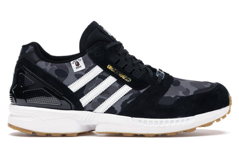 Adidas ZX 8000 Bape x Undefeated Black Size 9