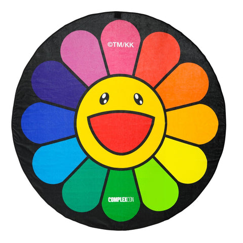 TAKASHI MURAKAMI FLOWER CIRCLE TOWEL 6 FEET