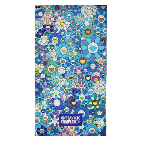 TAKASHI MURAKAMI FLOWER TOWEL BLUE