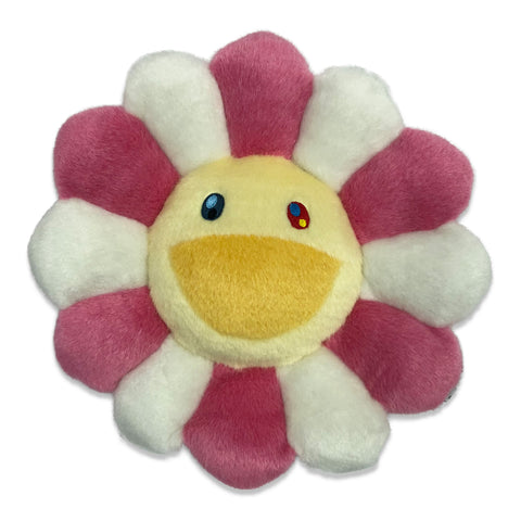 TAKASHI MURAKAMI FLOWER PLUSH CUSHION (PINK/WHITE) 12 INCH