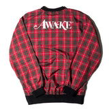 AWAKE NY Plaid Windbreaker Pullover Jacket Red