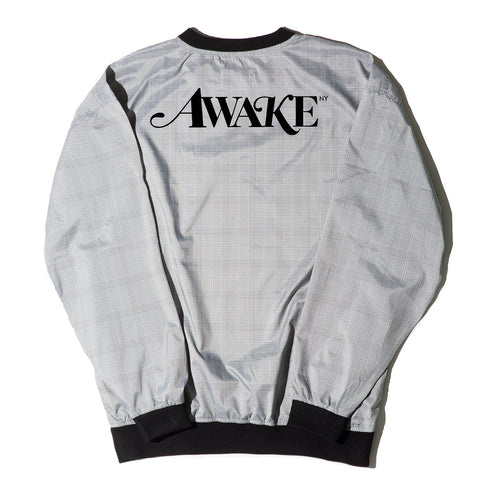 AWAKE NY Plaid Windbreaker Pullover Jacket