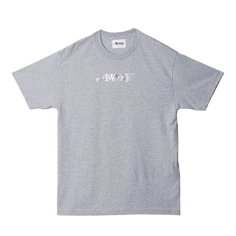 AWAKE NY Metallic Foil Tee Grey