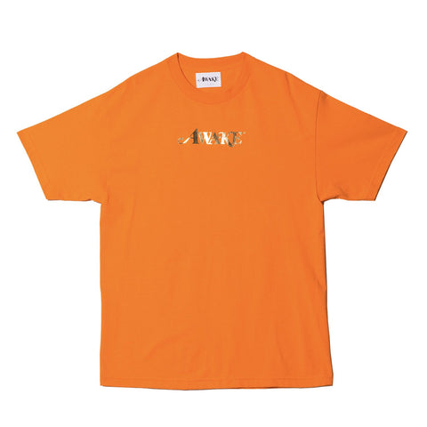 AWAKE NY Metallic Foil Tee Orange