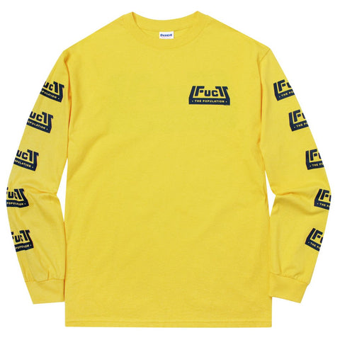 FTP x FUCT Skatepark Logo Long Sleeve Yellow