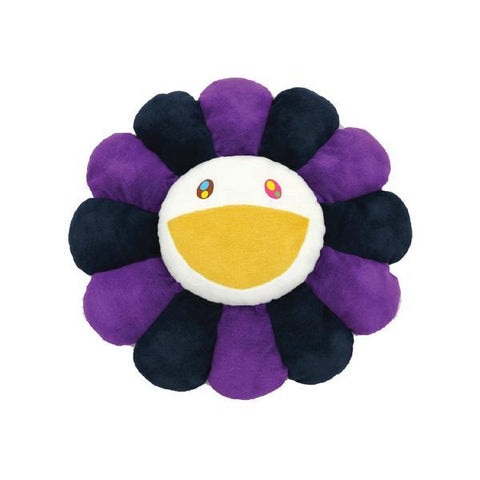 TAKASHI MURAKAMI FLOWER PLUSH CUSION (PURPLE/BLACK) 24 INCH