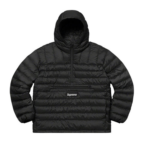 Supreme Micro Down Half Zip Hooded Pull Black