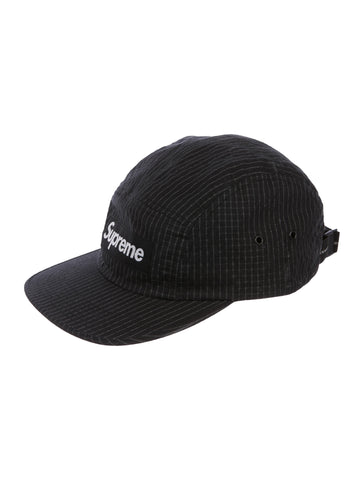 Supreme Reflective Ripstop Camp Cap Black