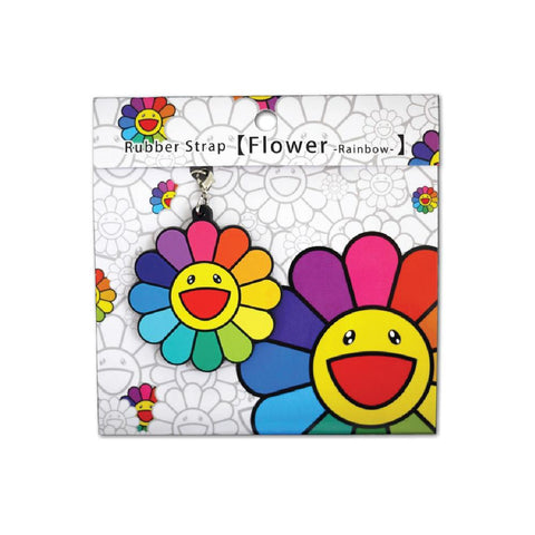 takashi murakami flower key chain rainbow