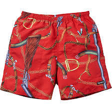 Supreme Remington Water Shorts Red